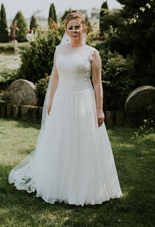 Suknia ślubna + dwa welony gratis!
