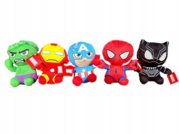 Zestaw 5szt maskotki avengers marvel hulk ironman spider pantera