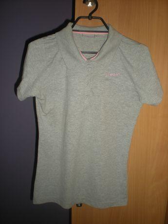 Szara wygodna koszulka polo, La Gear, rozmiar L