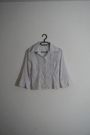 biała bluzka elegancka koszula r 36