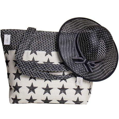 Пляжная сумка и женская шляпка