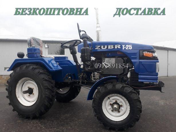 Мототрактор Зубр Т 25,фреза 140 см+2к плуг,Трактор,Минитрактор,Булат