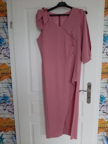 Długa liliowa sukienka 42