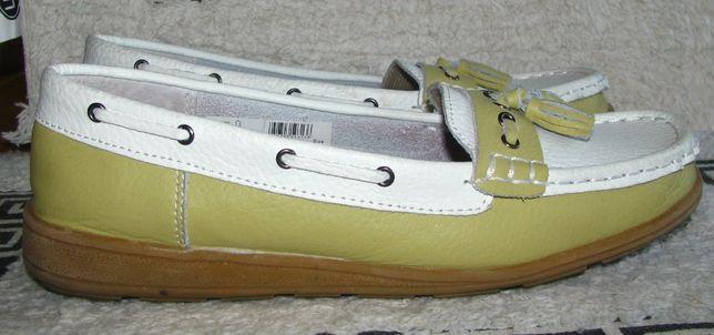 mokasyny buty skórzane półbuty damskie 38