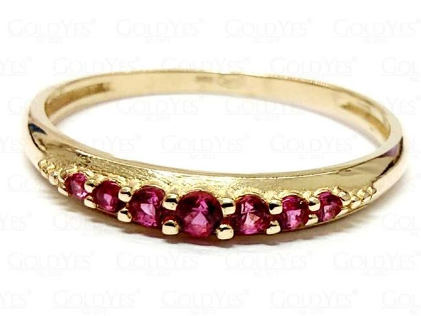 Złoty pierścionek z cyrkoniami próby 585 14K R16
