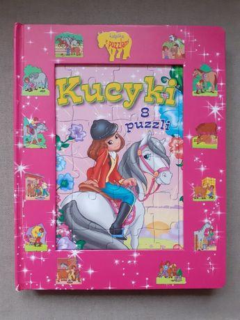 Książka z puzzlami KUCYKI (puzzle - 8 wzorów, 25 elementów) #konie