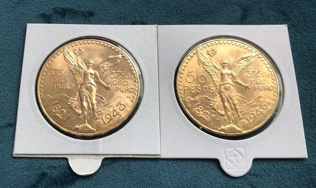 Moeda de ouro 50 pesos Mexicanos