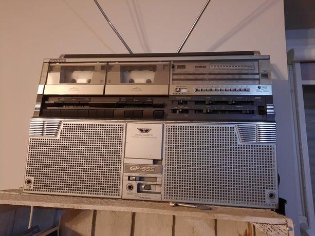 Sharp GF-555S oryginalny boombox/ghettoblaster