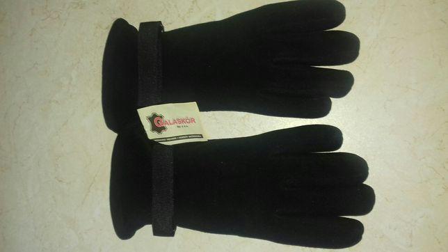 Rękawice wojskowe polarowe czarne nowe wz 615
