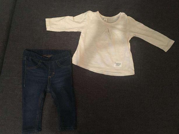 Spodnie/legginsy H&M, bluzka Reserved r. 68