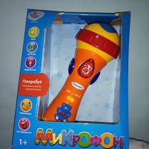 Микрофон обучающий интерактивный для детей, музыка