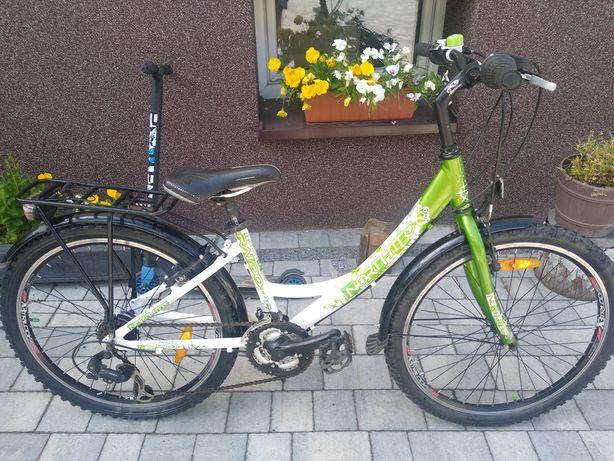 Rower młodzieżowy dla8-12latki Northtec, koła 24cale, aluminiowy wysyl
