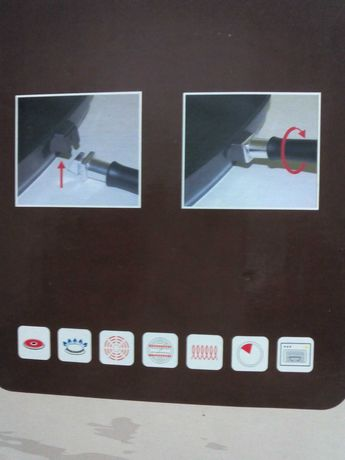 conjunto de frigideiras novas anti-aderentes Teflon