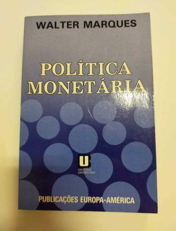 Política monetária, de Walter Marques