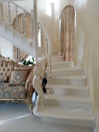 Изготовление лестниц под ключ, обшивка готовых каркасов деревом