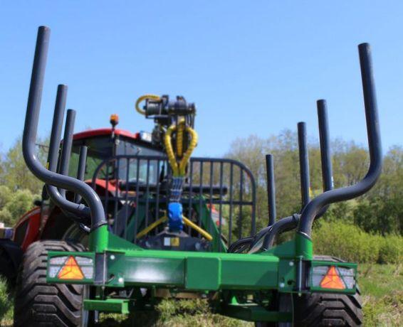 RAMA POPRZECZNA z KŁONICAMI d drewna przyczepa leśna Farma T9 KŁONICE