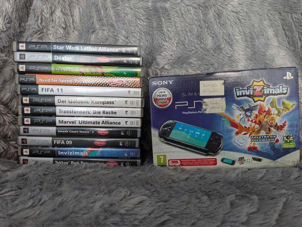 Przerobione PSP 3004 - karta 4GB, stan bardzo dobry, dużo gier