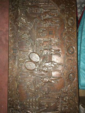 Arca de madeira de canfora antiga (anos 40/50)