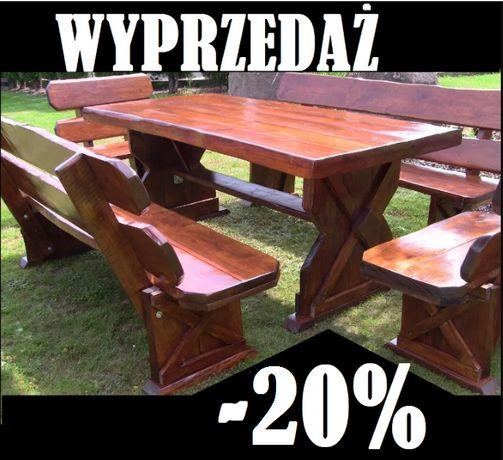 AKCJA -20% SOLIDNE Meble Ogrodowe Drewniane MASYWNE Ławka Fotel Stół