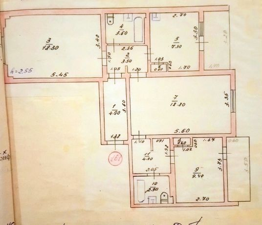 продам трёхкомнатную квартиру г Рени