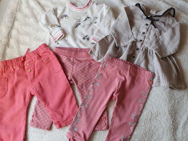 Zestaw paka ubrań dla dziewczynki 68