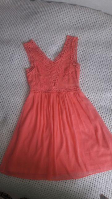 Очень красивое платье VERO MODA размер S шифон кружево выпуск сукня