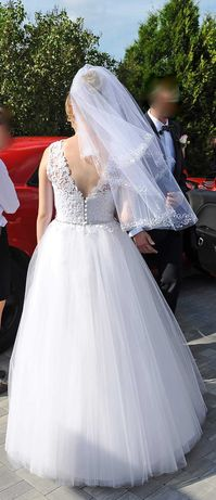 Biała suknia ślubna, 36 + niespodziewajka :)