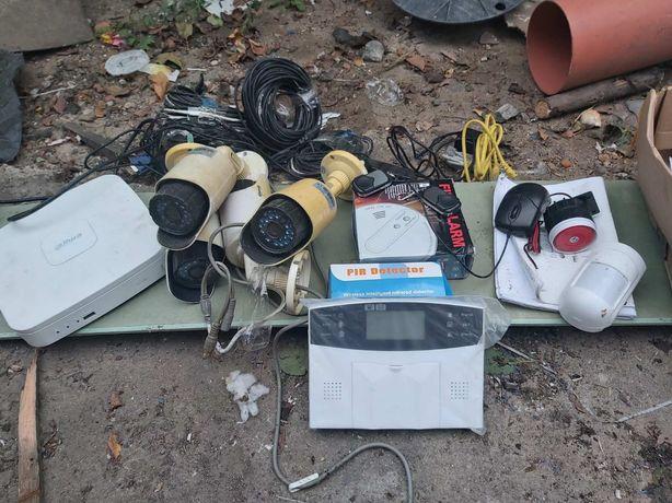 Продам комплект сигнализации с камерами и датчиками