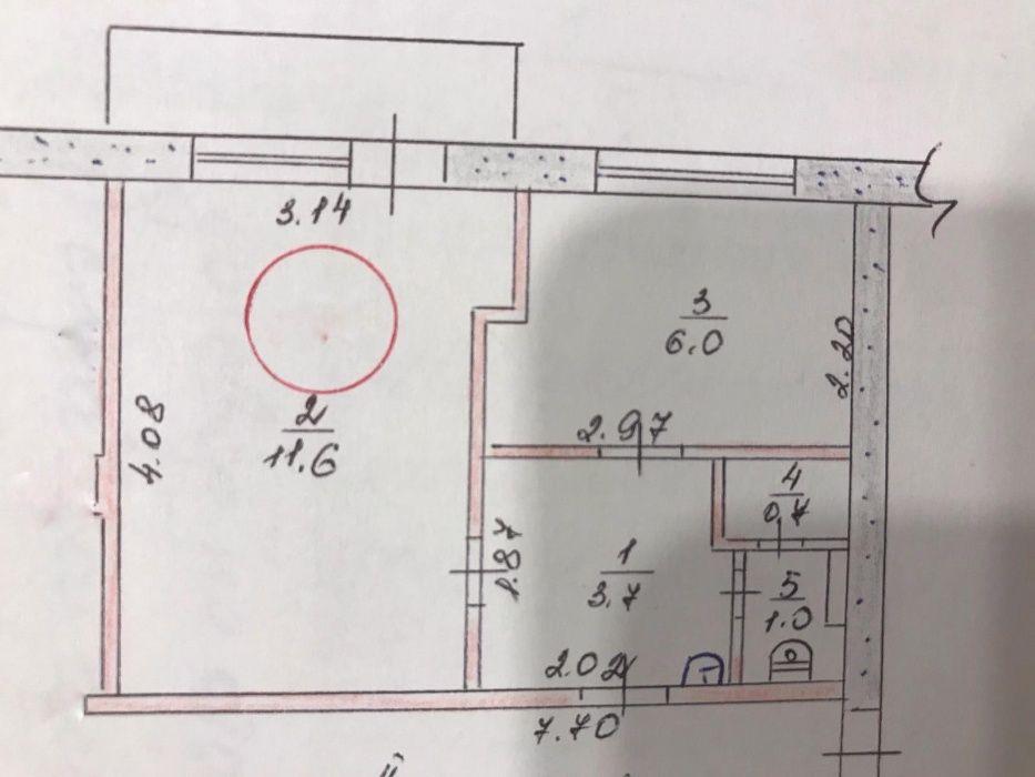 Продам 4-х местную комнату в общежитии 27 м3 в Николаевке (Славянский Николаевка - изображение 1