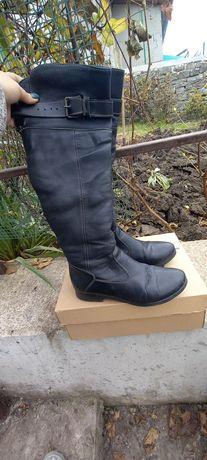 Зимние ботинки високие. Зимові чоботи шкіряні
