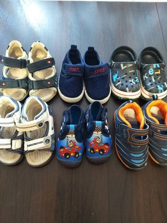 Обувь на мальчика, босоножки, тапки, туфли, кроссовки 21-22
