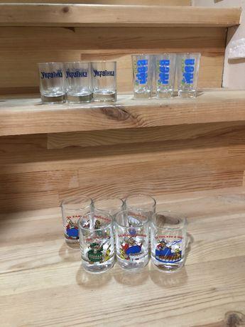 Рюмки, стаканы