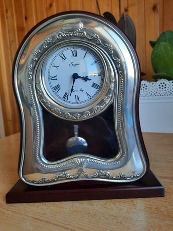Настольные часы,серебро 925
