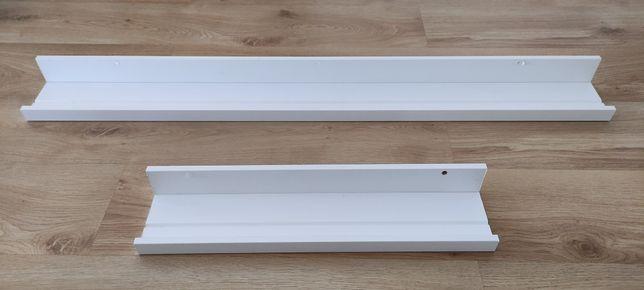 2 Prateleira p/molduras MOSSLANDA, branco 55cm + 115cm