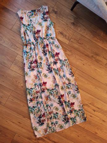 Sukienka nowa we wzory kwiatowe L