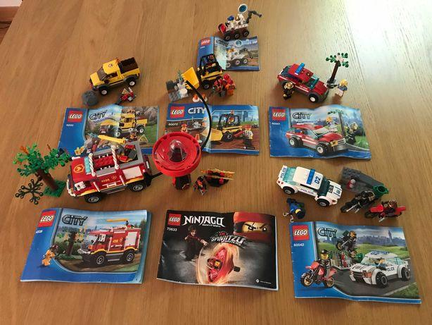 Zestawy LEGO CITY + LEGO NINJAGO - 19 zestawów