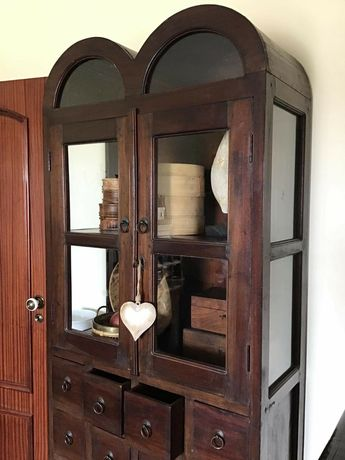 contador, estante, prateleiras, louceiro, armario, indiano, rustico