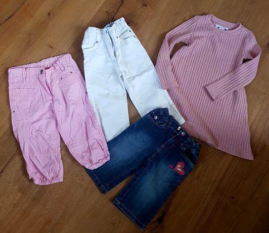 Zestaw dla dziewczynki: spodnie, spodenki, sukienka, 104/110
