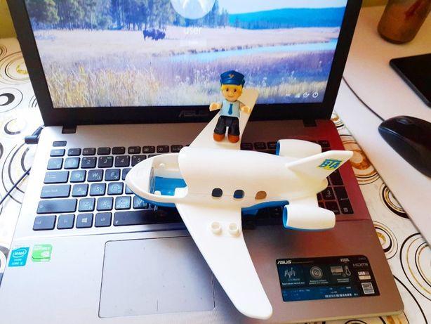 Самолёт Mega Bloks Town оригинал 5595 Lego Duplo совместим