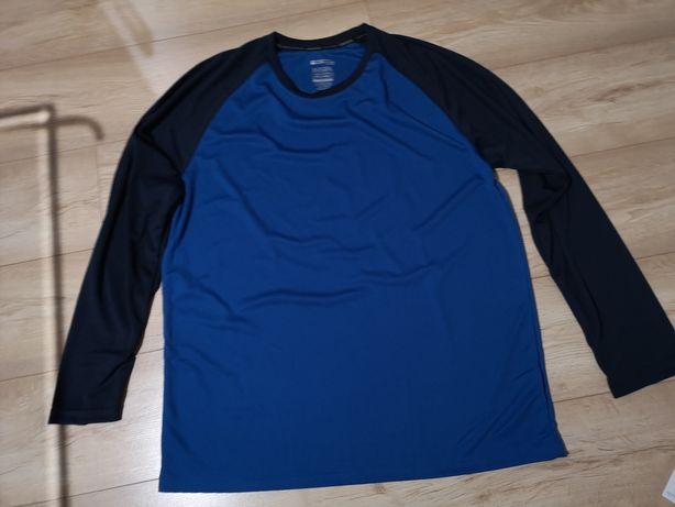 Bluzka koszulka długi rękaw XXL MOUNTAIN WAREHOUSE męska niebieska