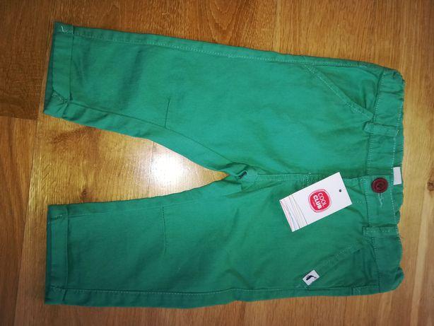 2 pary nowych spodni chłopięcych 74 smyk