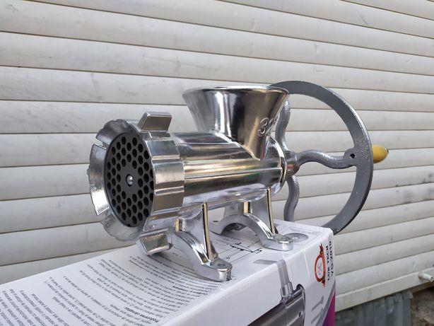Мясорубка алюминия 32 ручная промышленная под электродвигатель