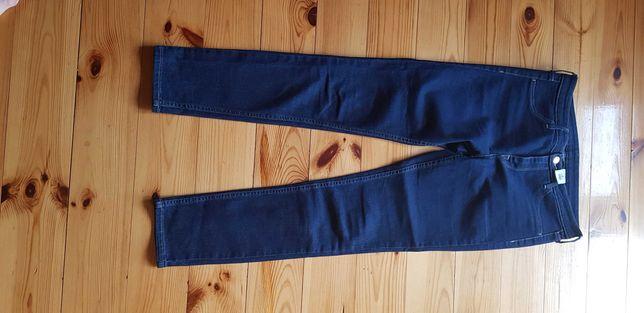 damskie jeansy, 2 sukienki r. 36