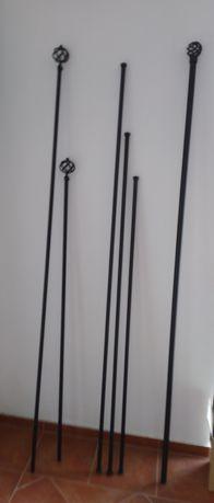 Varões em ferro preto