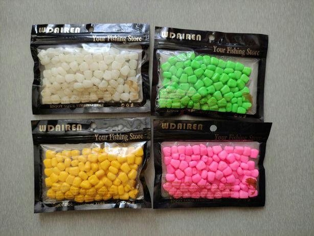 Наживка,приманка силиконовая кукуруза. Четыре цвета, для рыбалки.