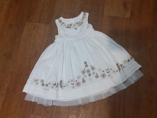Платье нарядное, 100 коттон , Zara, 1,5-3 года