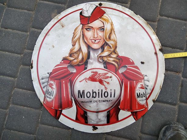 szyld emalia tablica Mobiloil