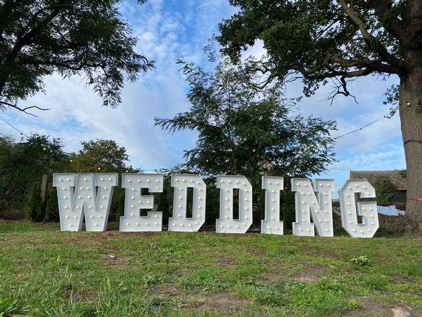 Żarówkowy napis WEDDING #wesele #wedding #ślub