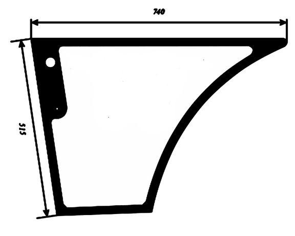 Szyba drzwi dolna New Holland B LB Case 590SR 695SR Manitou MLB ACX914