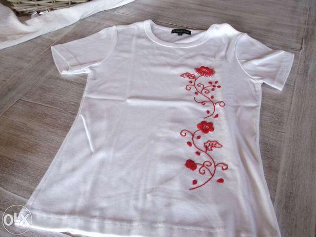 Camisola de manga curta bordada
